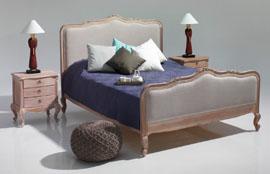 teak indoor bed