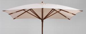 Square teak umbrella