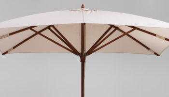 Square teak umbrella