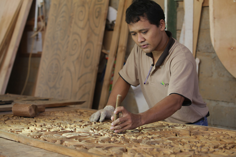 Carving in our factory