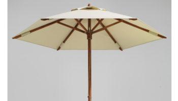 Round Teak umbrella
