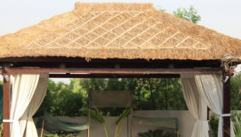 grass roof gazebo