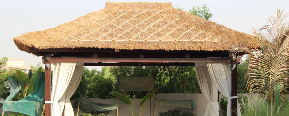 Grass Roof Gazebo Ymb Furniture