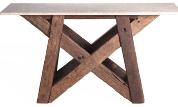 Dining table solid wood web - console