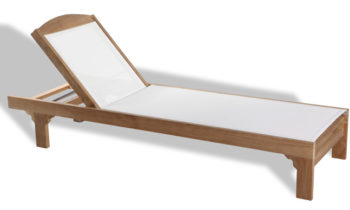 Teak and Batyline Sunlounger - outdoor teak furniture