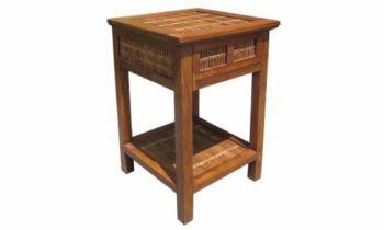 William Bedside Table Split Bamboo - bedroom side table