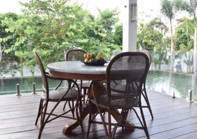 Bali Luxury Villa Chair and table - bali luxury villa
