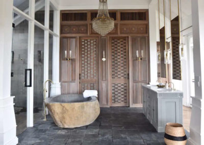 Carved Doors and cabinets - bali luxury villa
