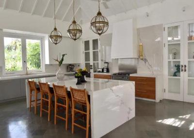 kitchen island - bali luxury villa