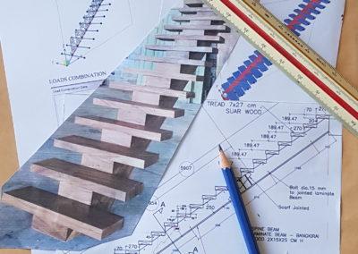 Mono Stringer Staircase for France