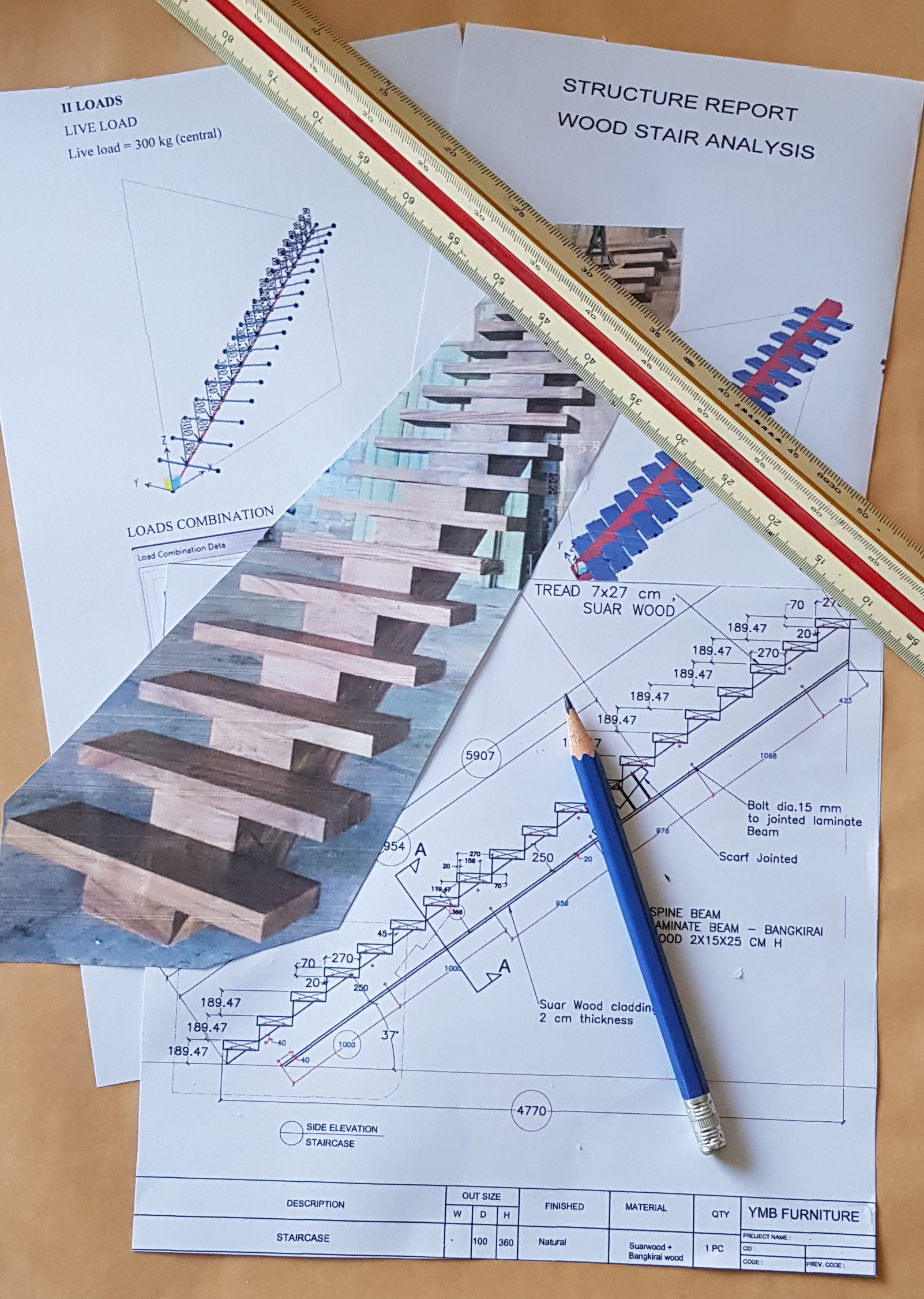 Mono Stringer Staircase project